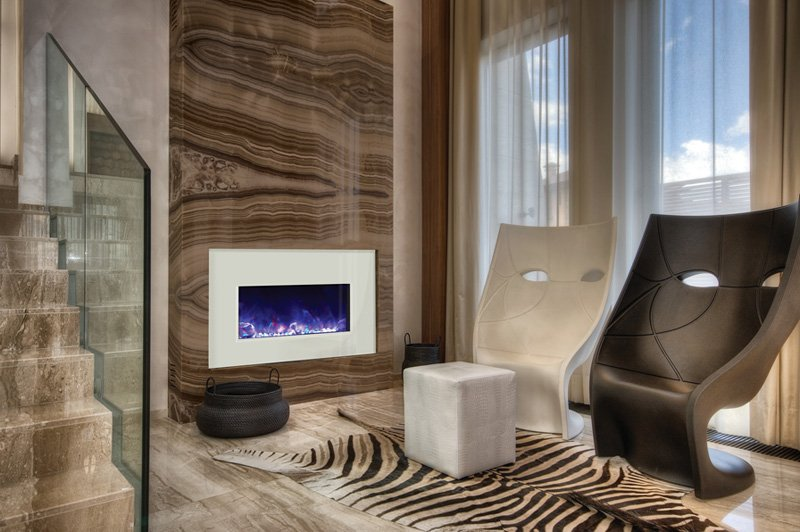 Art + Functionality = Electric Fireplace | Richshome.com