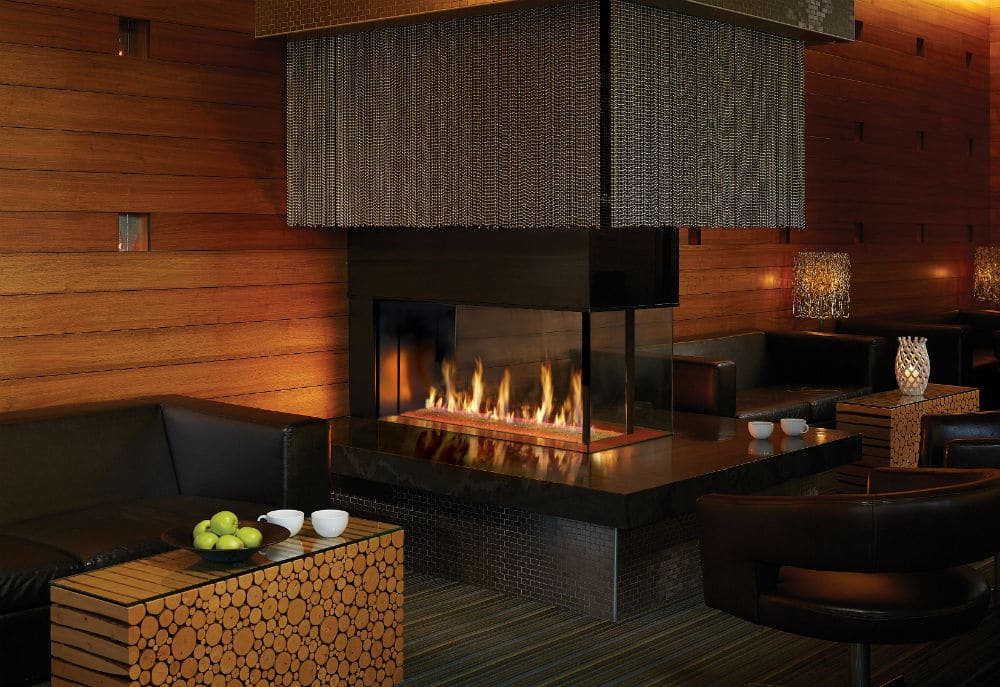 Linear Gas Fireplaces Stylish Accessory For Restaurants