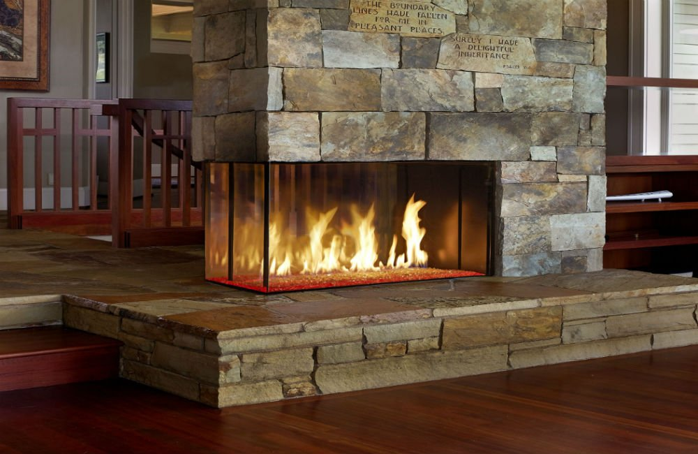DaVini custom linear fireplace | Richshome.com