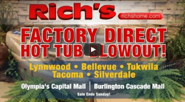Rich's factory-direct hot tub blowout
