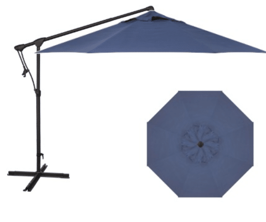 10 ft cantilever umbrella in Neptune Blue | Avaiilable at Rich's