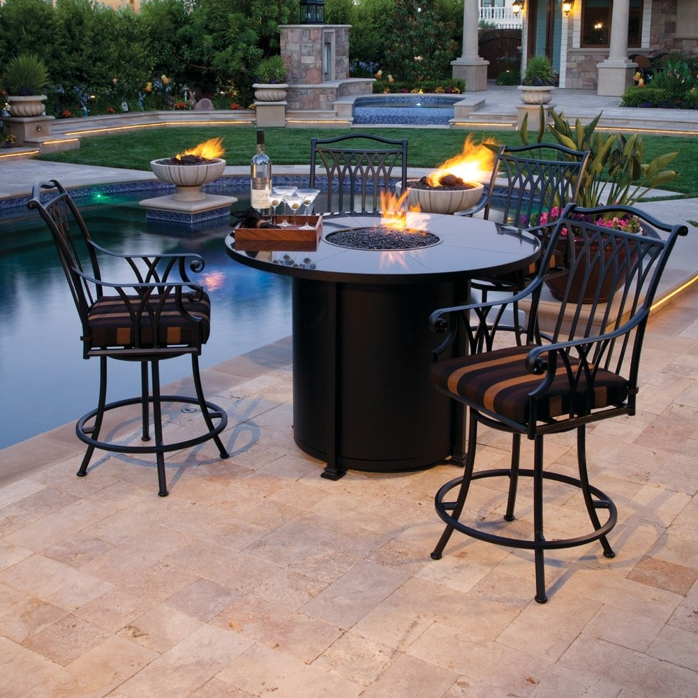 Fire Pits Reach New Heights Literally Richs For The Home - Pub height fire pit table