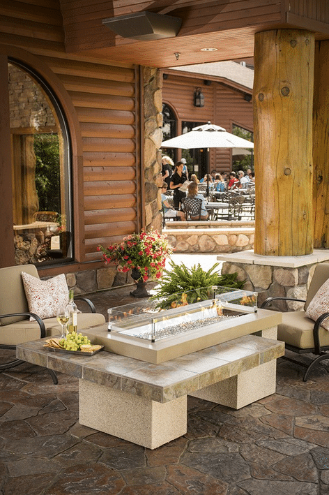 Uptown gas fire pit table, by Outdoor GreatRoom