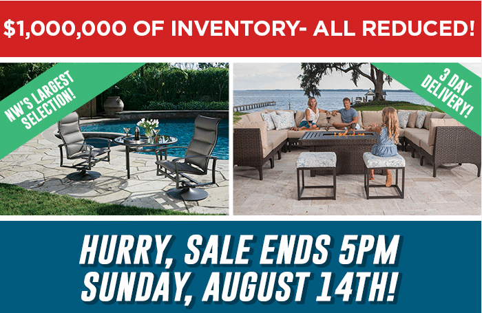 Patio Furniture Sale Aug 16