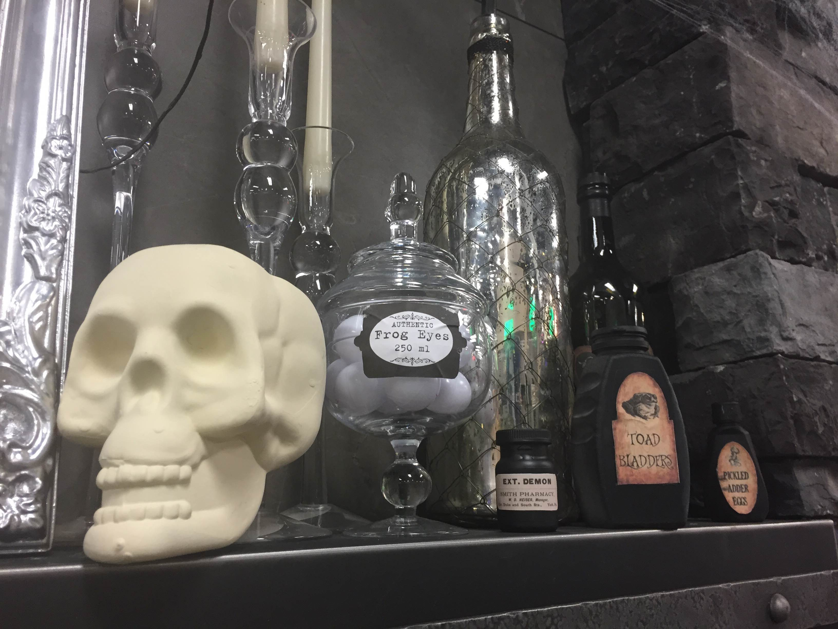 gothic glam inspired halloween mantel décor rich u0027s for the home
