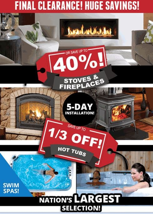 Prices slashed on fireplaces, inserts, stoves OR get 3 years no-interest financing O.A.C. Ends 1/29/17 at Rich's