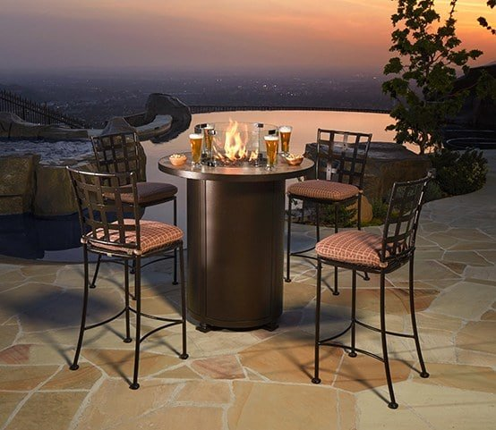 Casa pub-height fire table by OW Lee. | Rich'sHome.com - Outdoor Furniture Special Order Sale Rich's For The Home