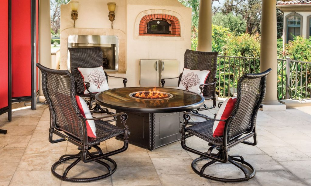 Grand Terrace firepit by GenSun | Richshome.com