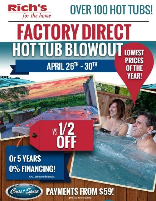 Factory Direct Hot Tub Blowout Rich S For The Home