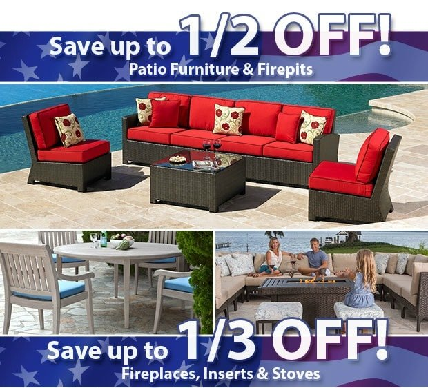 Memorial Day Savings on Outdoor Furniture, Fire Pits, Fireplaces, Hot Tubs, and More | RichsHome.com