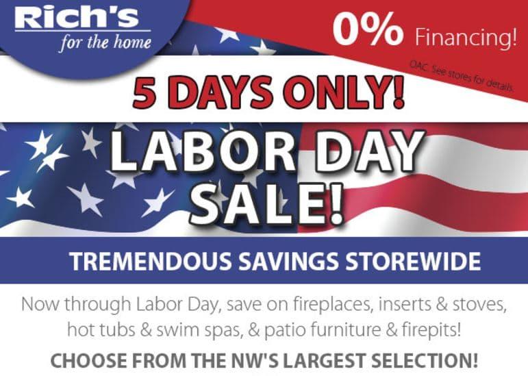Rich's Labor Day Sale | Richshome.com