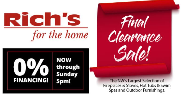 Final Year End Clearance Sale on ALL Fireplaces, Inserts & Stoves | Richshome.com