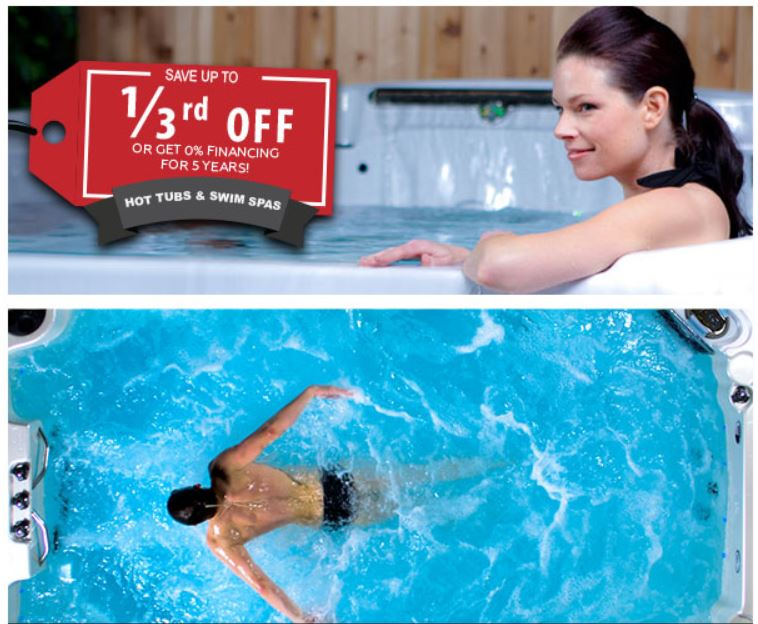 Save up to 1/3 off hot tubs and swim spas, or get 0% financing for 5 years O.A.C. | Richshome.com
