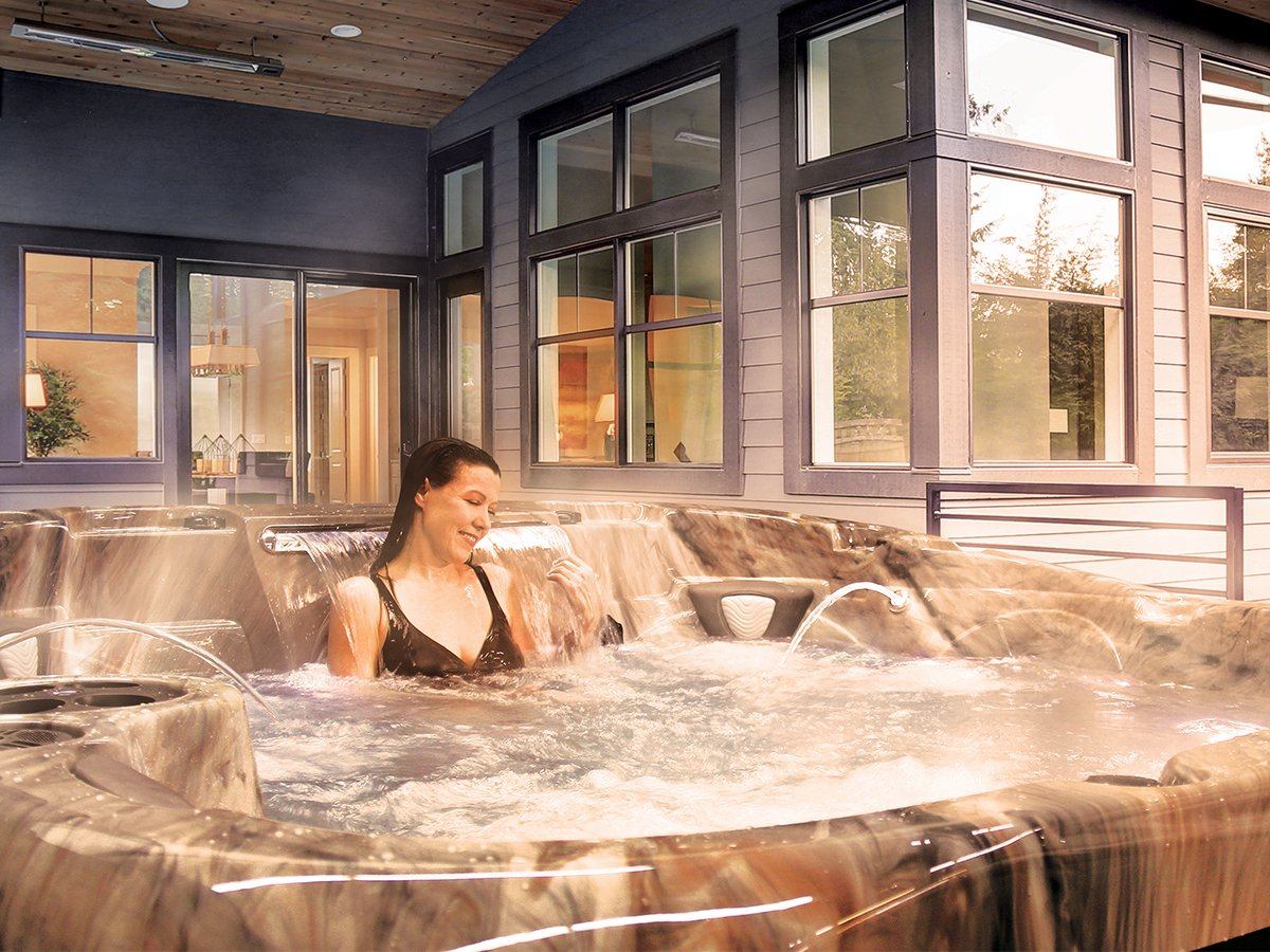 Raised Back Design | Coast Spas Hot Tub | Richshome.com/blog