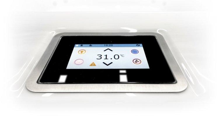 Fusion Touchscreen Controls on the Purfikt Spa   richshome.com